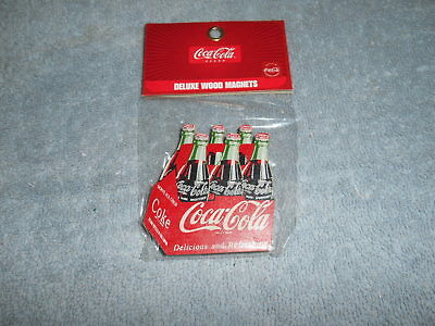 Coke Wood Magnet - 6 Pack Of Coke - Unopened
