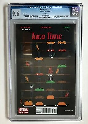 Deadpool #27 VARIANT 1:75 Waite Taco Time Variant CGC 9.6 HTF