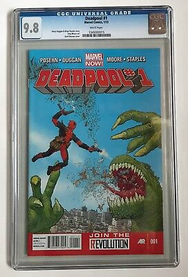 DEADPOOL #1 Marvel Now 2013 CGC 9.8