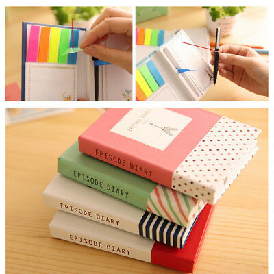 100pages MINI notebook 3-in-1 Sticky notes Pen Pocketbook Pocket Small Notepad