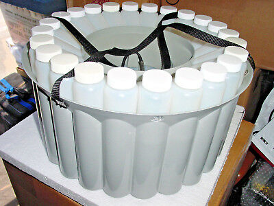 Teledyne Isco Portable Automatic Waste Water Sampler Tray & 24 Bottles ~ New