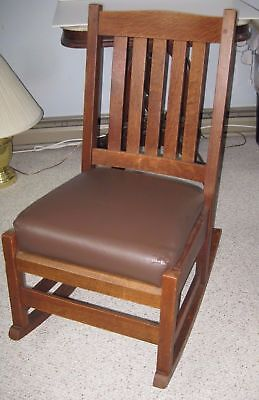 Stickley Antique Arts & Crafts Mission Style  Rocking Chair