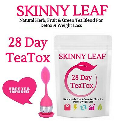 SKINNY TEA BLENDS 28 Day TeaTox - WEIGHTLOSS DETOX Teas & Infuser. FREE SHIPPING