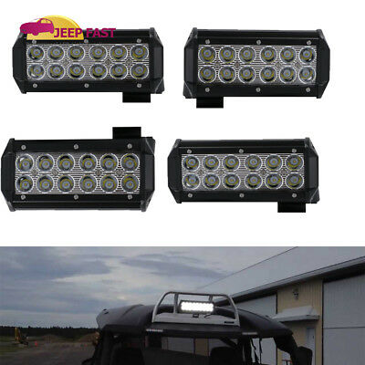4X 7inch 36W Spot Led Light Bar Work Driving Boat Fog Off Road Truck SUV 4WD US