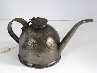 Large Antique Eagle Oil Can Org Chain Connected Top With Spout