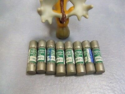 Bussmann FNM-2 1/2 Fusetron Dual Element Fuses Lot of 8
