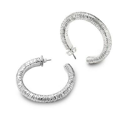 Simon Sebbag Large Wire Wrapped Prosecco Hoop Earrings in Sterling Silver