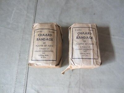 64E Original Wwii Us Medic Medial Chaard Bandage Lot Of 2