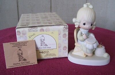 Precious Moments MOTHER SEW DEAR - E3106 - with Box and Product Card