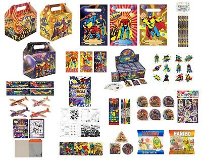 12 Kids 24 Piece Comic Super Hero Heroes Jigsaw Puzzles Party Loot Bag Filler