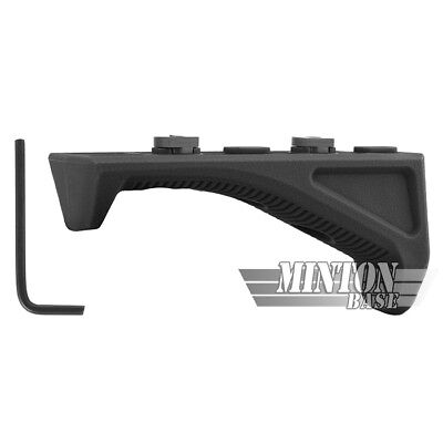 Tactical M-LOK Angled Forward Grip Fore Grip Forend Hand Stop - Black