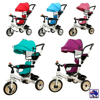 Baby Kids Reverse Toddler Tricycle Bike Trike Ride-On Toy Stroller Prams GMC0010