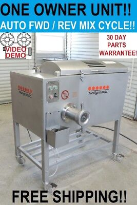 HOLLYMATIC 900E Commercial Butcher Shop Meat Grinder Mixer Chopper Extruder!