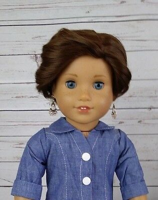 "10-11 Custom Doll Pixie Wig fit Blythe-American Girl-18"" Doll GARDEN BED BROWN 1"