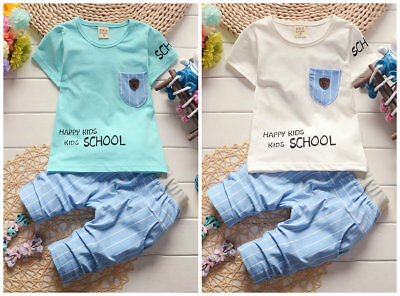 baby boys clothes cotton summer Top tee +short pants kids boys summer outfits
