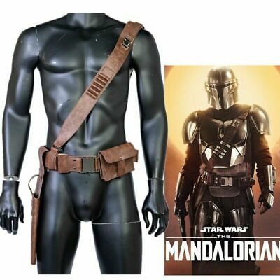 The Mandalorian Leather Belt Cosplay Costume Prop Leg Pack Gun Package Mens