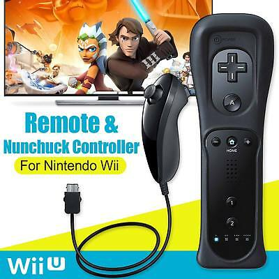 Built in Vibrate Motion Plus Remote Controller And Nunchuck For Wii & Wii U Game