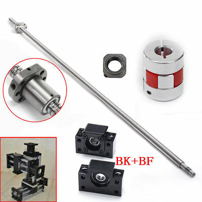 SFU1605 L500mm C7 Ball Screw BK/BF12 + End Support Coupler + Ball Nut 5mm Pitch