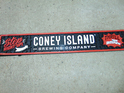 "CONEY ISLAND Brewing Co Rubber Bar Drip Spill Mat STEP RIGHT UP 21"" x 3.25"" NEW"