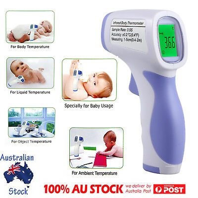 LCD Forehead Infrared Body Kids Temperature Fever Measure Tool Adult Thermometer