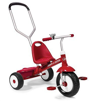 Radio Flyer - Deluxe Steer and Stroll Trike Tricycle NEW