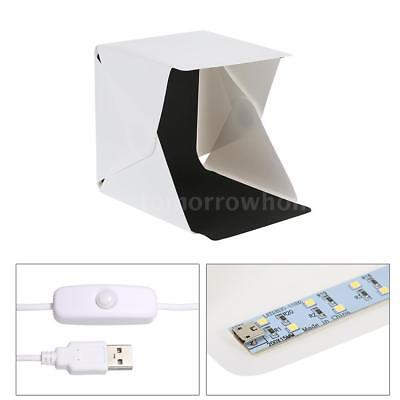 Studio Light Box Photography Backdrop Portable USB LED Mini Lightroom Tent G7J9