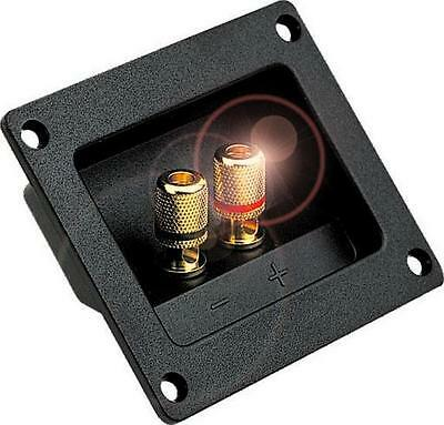 Speaker SubWoofer Terminal Panel Flush Mount Plate,Gold Plated Contacts