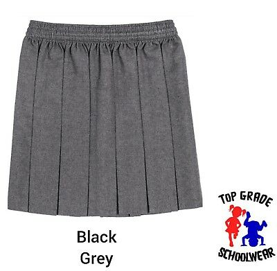 f3fbe6d1ae AGES 2-20 GIRLS School Skirt Box Pleated All round Elasticated Knee ...
