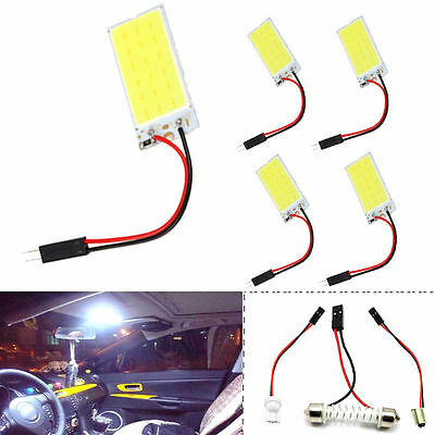 2pcs 12V Xenon HID White 36 COB LED Dome Map Light Bulb Car Interior Panel Lamp
