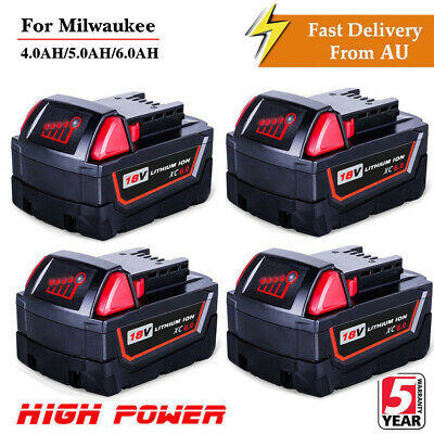 Battery for Milwaukee 18V XC 6.0Ah Lithium M18 48-11-1850 48-11-1828 48-11-1840