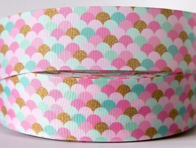 1M X 38mm Grosgrain Ribbon Craft DIY Decorations Bows - Candy Pink Ice-Cream Top