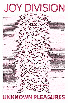 """Joy Division Poster Unknown Pleasures PINK High Quality Archival Print 16x24"""""""