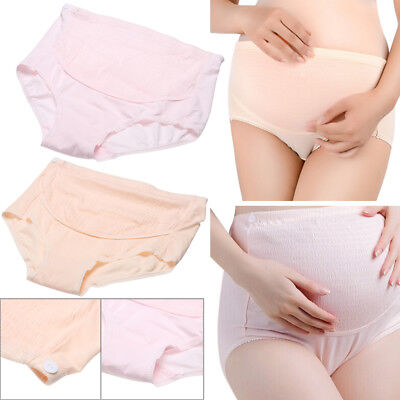 2 Pack Adjustable High Waist Over Belly Maternity Soft Cotton Underwear Knickers