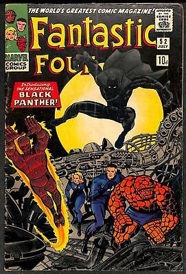 Fantastic Four #52 1st App Black Panther VG