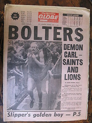 Sporting Globe  APRIL 7 1979 Carl Ditterich Melbourne Footscray