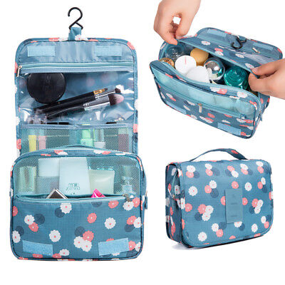 Travel Cosmetic Storage MakeUp Bag Folding Hanging Toiletry Wash Organizer Pouch