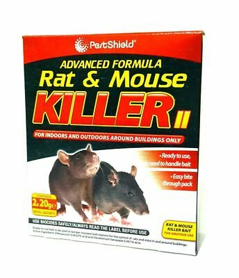 Rat and Mouse Killer Poison 2x 20g Kills Rodents Fast & HSE Approved