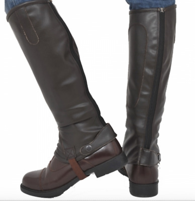 """Riders Trend Equestrian Horse riding Gaiters Half Chaps Stretch 15-16"""""""