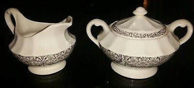Le Fleur Rouge 22K by LIMOGES-AMERICAN CREAM AND SUGAR SET