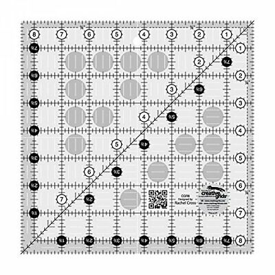 "Creative Grids 8.5"" Square Quilting Ruler Template CGR8"