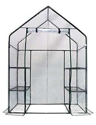 "Homewell Mini Walk-In Greenhouse 3 Tiers 6 Shelves 56""W x 29""D 77""H Greenhouses"