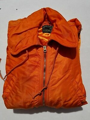Winter Orange Flight Suit CWU-1/P Size Small Long MFG Olive Hill Dated 1961