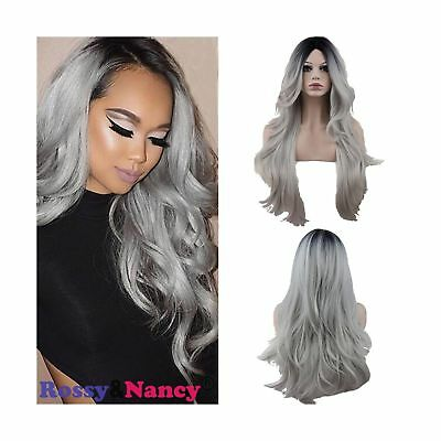 Rossy&Nancy Two Tones Cheap Synthetic Long Nature Wave Heat Resistant None La...