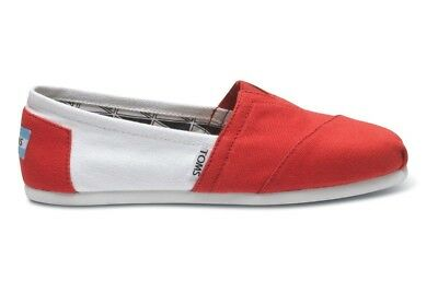 6904a8c2017 TOMS Men s Campus Classics Shoe University of Oklahoma Red White Canvas  Shoes