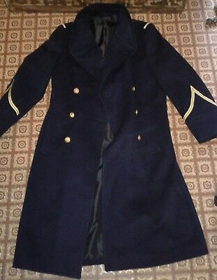 Manteau capote militaire  armée de l'air aviation french army  coat