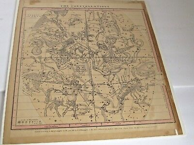 Antique1856 Burritt / Huntington Map of Constellations in July August, September