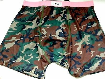 0b1774ac18ba4b Undz: Men's, Polyester, Boxer Brief, Camo With Pink Waistband, Xl Only
