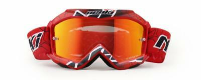 NENKI Kids Brillen NK-1018 for Motocross, ,Tinted Lens (Red)