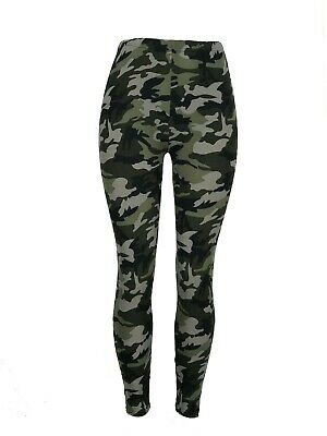 CAMO!! One Size Black Gray Camouflage Leggings Pants Buttery Soft OS