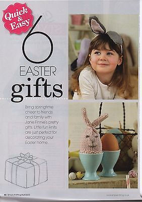 Quick easy 6 easter gifts knitting pattern 135 picclick uk quick easy 6 easter gifts knitting pattern negle Gallery